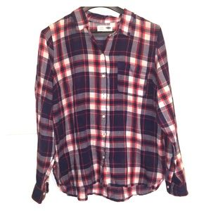 Old navy classic red white and blue plaid